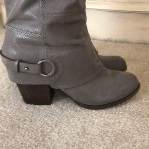 Fergalicious Shoes - Harness heel, wide calf, knee-hi boots